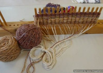 Peg Loom Weaving with Agnis Smallwood