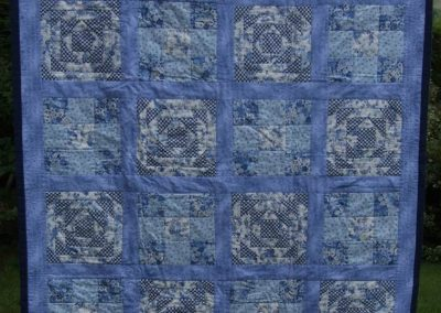 A cushion quilt (one that can be folded into a cushion)