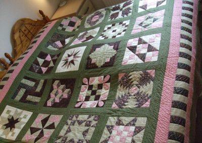 A sampler block quilt