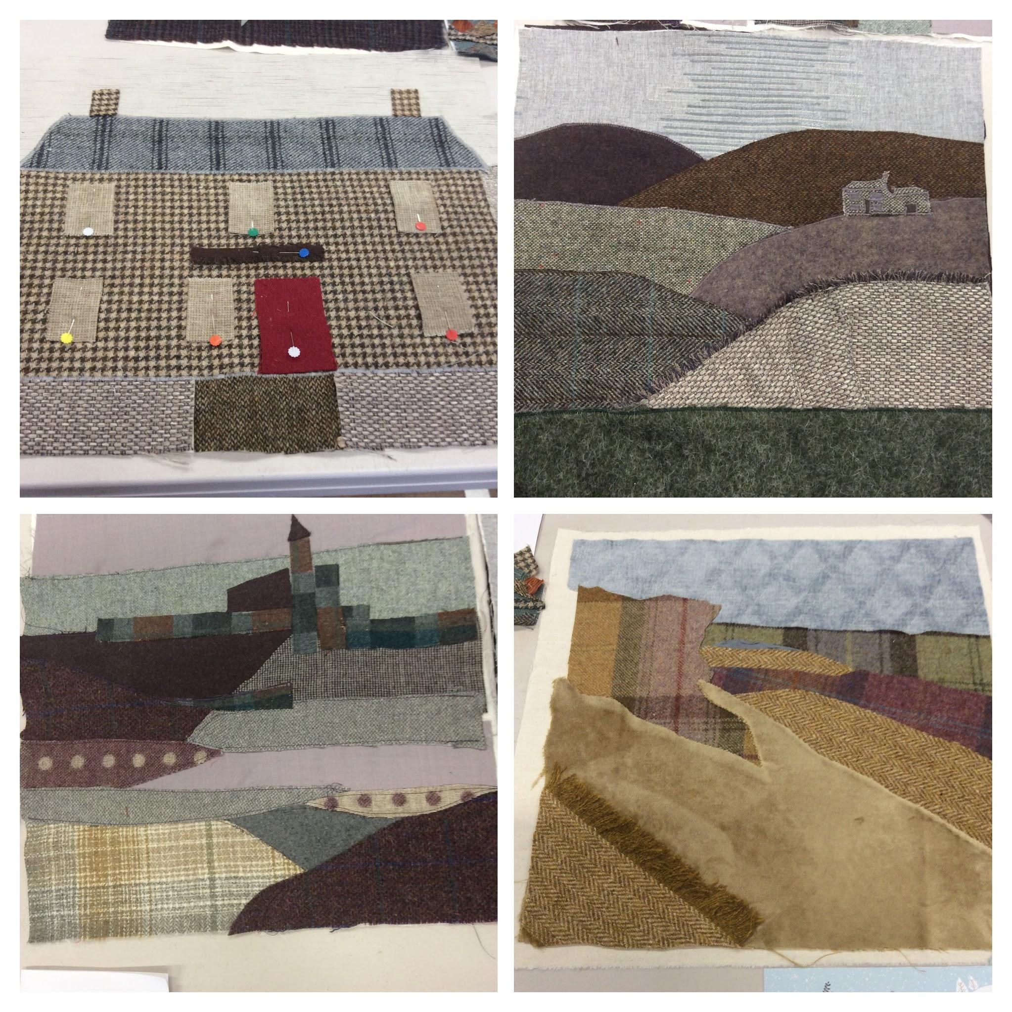 Tweed collage